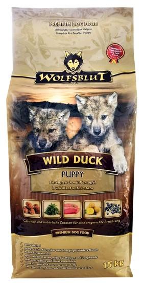 Wolfsblut Dog Wild Duck Puppy kaczka i bataty 15kg-1