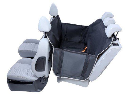 Kardiff Anti Slip mata samochodowa na tylne fotele z bokami M czarna-1