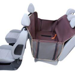 Kardiff Anti Slip mata samochodowa na tylne fotele z bokami M brązowa-1
