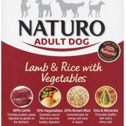 Naturo Adult Jagnięcina z ryżem i warzywami 150g-1