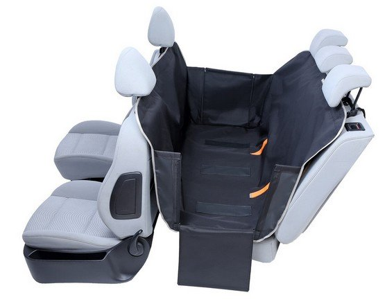 Kardiff Anti Slip mata samochodowa na tylne fotele z bokami M czarna-2