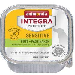 Animonda Integra Protect Sensitive dla psa indyk + pasternak tacka 150g-1