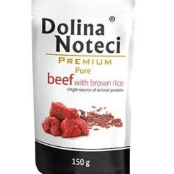 Dolina Noteci Premium Pies Pure Wołowina i ryż saszetka 150g-1