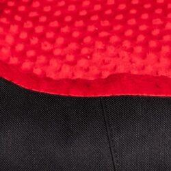 Bimbay Pokrowiec do kanapy Minky r.4 - 125x90cm czarny-czerwony-1