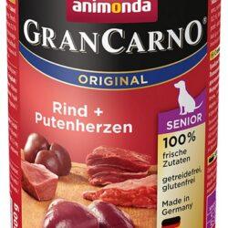 Animonda GranCarno Senior Rind Putenherzen Wołowina + Serca Indyka puszka 400g-1