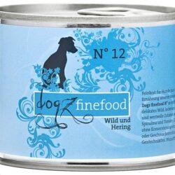 Dogz Finefood N.12 Dziczyzna i śledź puszka 200g-1
