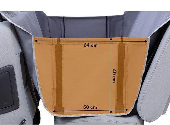 Kardiff Anti Slip mata samochodowa na tylne fotele z bokami M brązowa-4