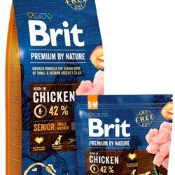Brit Premium By Nature Senior S+M Small + Medium 1kg-1