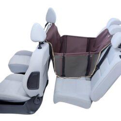 Kardiff Anti Slip Mini 1/2 Mata samochodowa na połowę tylnego fotela brązowa-1