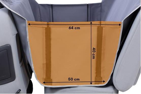 Kardiff Anti Slip mata samochodowa na tylne fotele z zamkiem i bokami S czarna-5