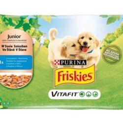 Friskies Dog Junior Kurczak i marchewka w sosie saszetki 4x100g-1