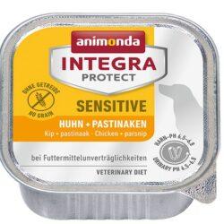 Animonda Integra Protect Sensitive dla psa kurczak + pasternak tacka 150g-1