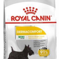 Royal Canin Mini Dermacomfort karma sucha dla psów dorosłych, ras małych o wrażliwej skórze skłonnej do podrażnień 8kg-1