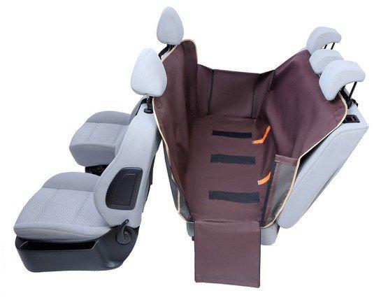 Kardiff Anti Slip mata samochodowa na tylne fotele z bokami M brązowa-2