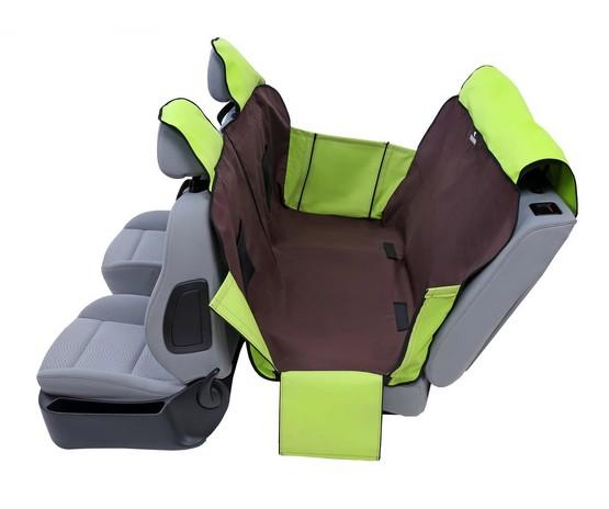 Kardiff Activ Mata samochodowa na tylne fotele z zamkiem i bokami L brązowo-zielona-1