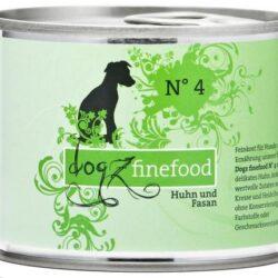 Dogz Finefood N.04 Kurczak i bażant puszka 200g-1