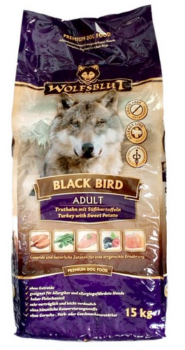 Wolfsblut Dog Black Bird Adult - indyk i bataty 15kg-1