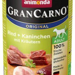 Animonda GranCarno Adult Rind Kaninchen Krautern Wołowina + Królik z Ziołami puszka 400g-1