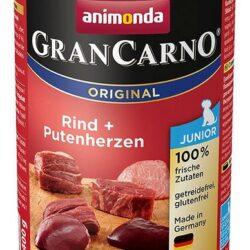 Animonda GranCarno Junior Rind Putenherzen Wołowina + Serca Indyka 400g-1