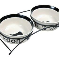 Trixie Miski ceramiczne 1,6L na stojaku [24642]-1