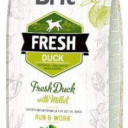 Brit Fresh Dog Adult Active Duck & Millet 12kg-1