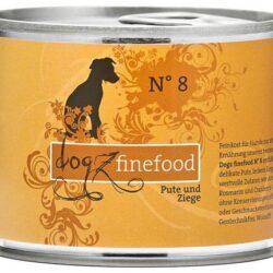 Dogz Finefood N.08 Indyk i koza puszka 200g-1