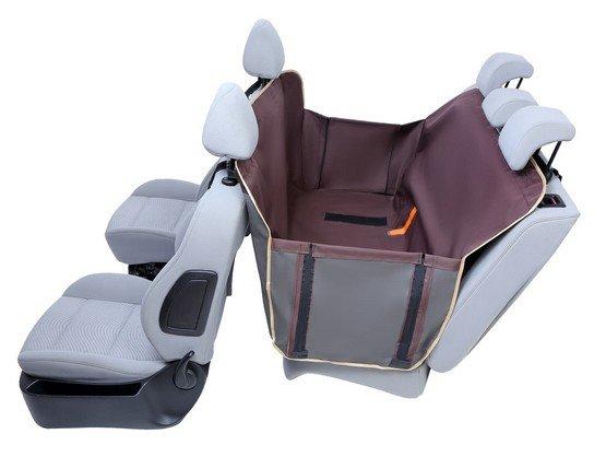 Kardiff Anti Slip mata samochodowa na tylne fotele z bokami L brązowa-1