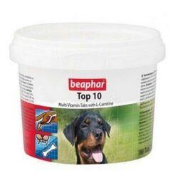 Beaphar TOP 10 Dog - preparat witaminowy z L-karnityną dla psa 750tabl.-1