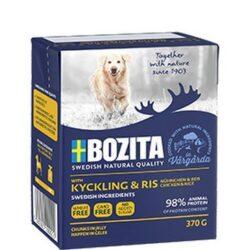 Bozita Dog Tetra Recart z kurczakiem i ryżem w galaretce kartonik 370g-1