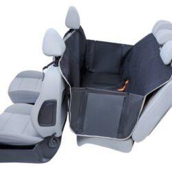 Kardiff Anti Slip mata samochodowa na tylne fotele z zamkiem i bokami L czarna-1