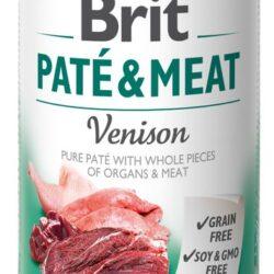Brit Pate & Meat Dog Venison puszka 400g-1