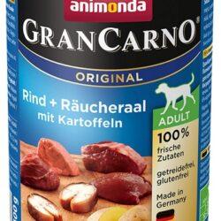 Animonda GranCarno Adult Rind Raucheraal Kartoffeln Wołowina, Węgorz + Ziemniaki puszka 400g-1