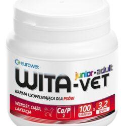 Wita-Vet Junior+Adult CA/P=2 3,2g 100tabl. - preparat witaminowy dla ciężarnych suk i szczeniąt-1
