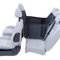 Kardiff Anti Slip Mini 1/2 Mata samochodowa na połowę tylnego fotela czarna-1