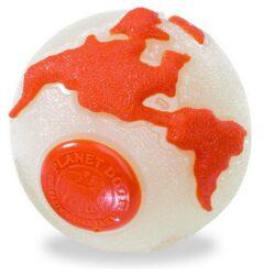 Planet Dog Orbee Ball beżowo-pomarańczowa small [68670]-1