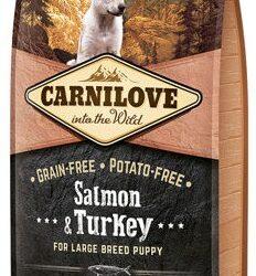Carnilove Dog Salmon & Turkey Large Puppy - łosoś i indyk 1,5kg-1