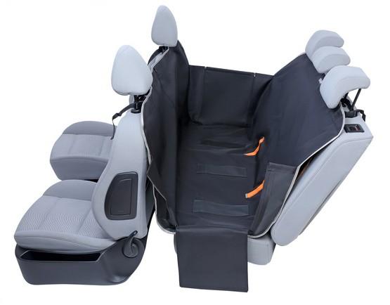 Kardiff Anti Slip mata samochodowa na tylne fotele z zamkiem i bokami S czarna-2