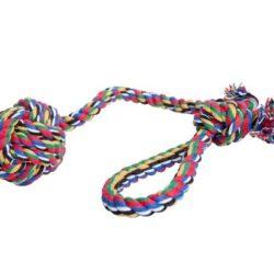 Dingo Piłka ze sznurka wielokolorowa z rączką-1