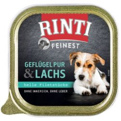 Rinti Feinest Huhn & Lachs Pies - kurczak + łosoś tacka 150g-1