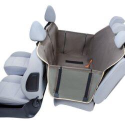Kardiff Anti Slip mata samochodowa na tylne fotele z zamkiem i bokami L oliwkowa-1