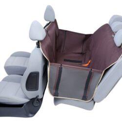 Kardiff Anti Slip mata samochodowa na tylne fotele z zamkiem i bokami S brązowa-1