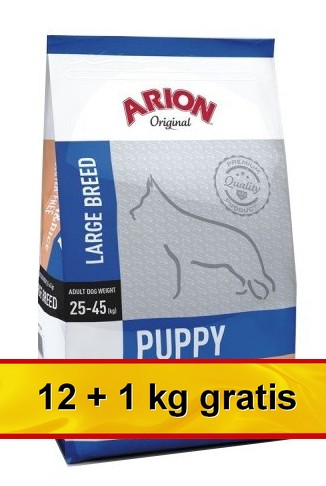 Arion Original Puppy Large Salmon & Rice 13kg (12+1kg gratis)-1