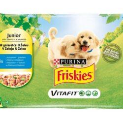 Friskies Dog Junior Kurczak i groszek w galaretce saszetki 4x100g-1