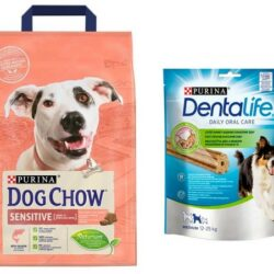 Purina Dog Chow Adult Sensitive Łosoś 2,5kg + przysmak Dentalife gratis-1