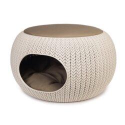 Curver Legowisko dla zwierząt Knit beżowe-1